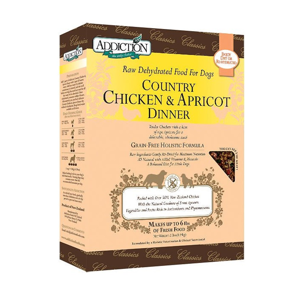 Addiction Raw Dehydrated Country Chicken & Apricot Dinner for Dogs