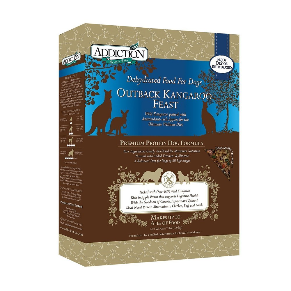 Addiction Raw Dehydrated Outback Kangaroo Feast (Grain Free) for Dogs