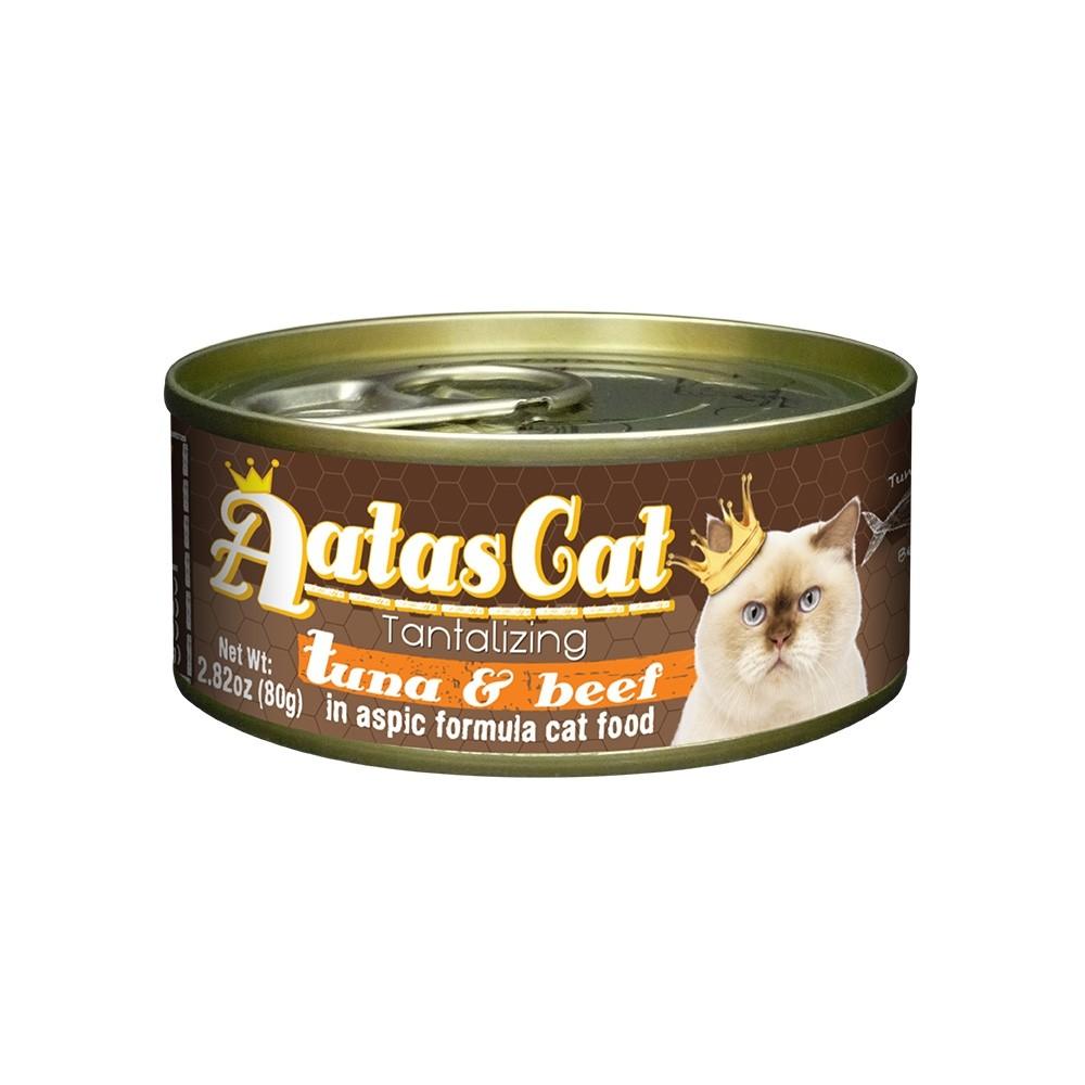 Aatas Cat Tantalizing Tuna & Beef in Aspic Canned Cat Food