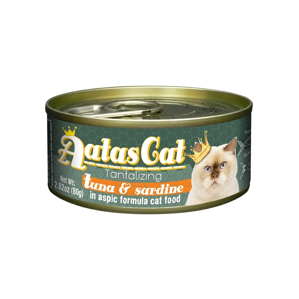 Aatas Cat Tantalizing Tuna & Sardine in Aspic Canned Cat Food