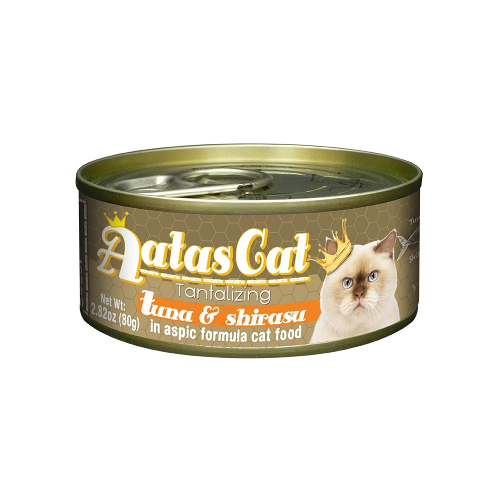 Aatas Cat Tantalizing Tuna & Shirasu in Aspic Canned Cat Food