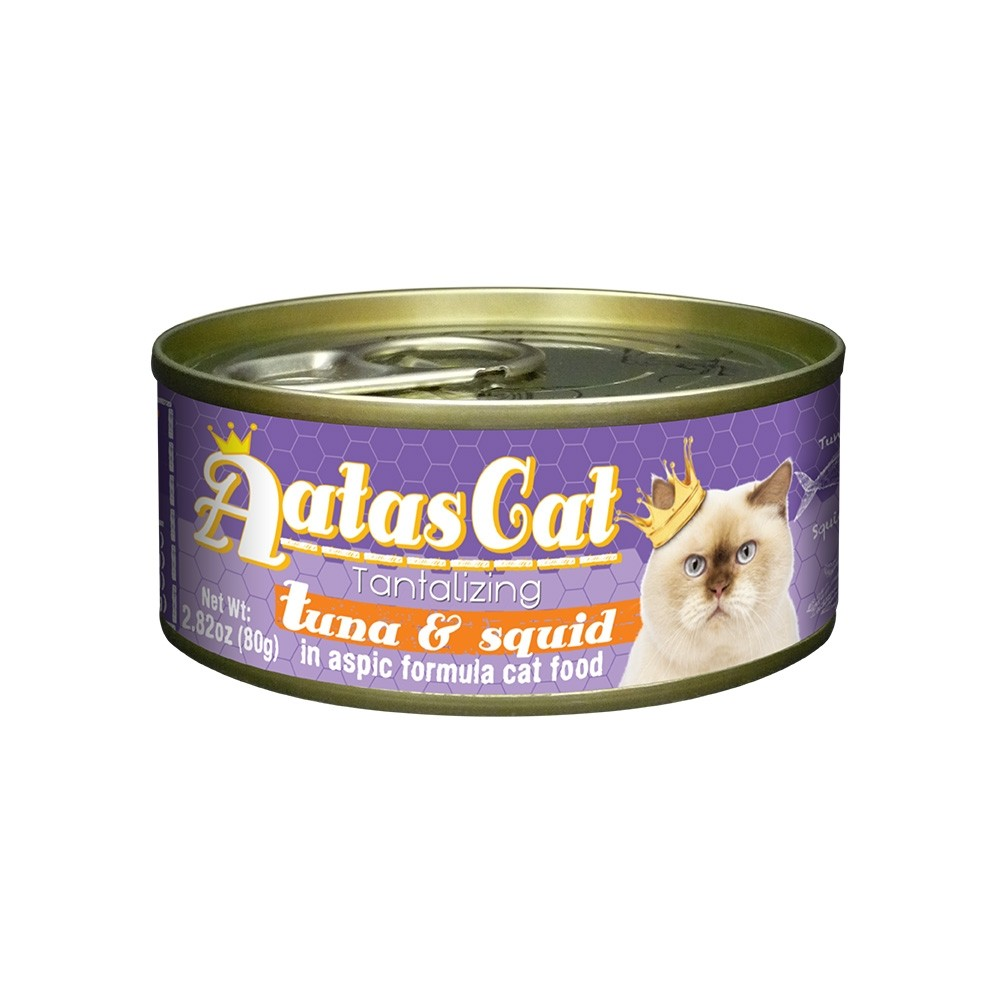 Aatas Cat Tantalizing Tuna & Squid in Aspic Canned Cat Food