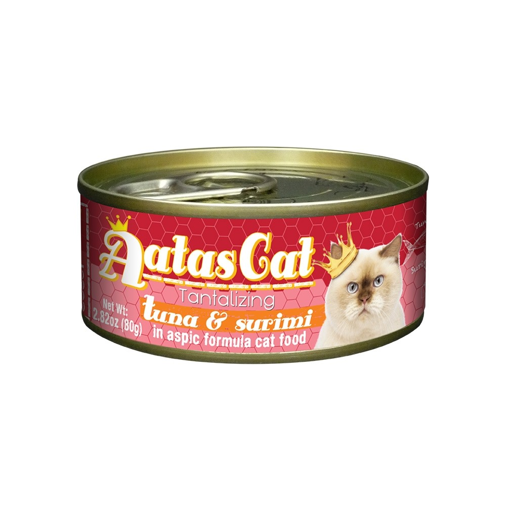 Aatas Cat Tantalizing Tuna & Surimi in Aspic Canned Cat Food