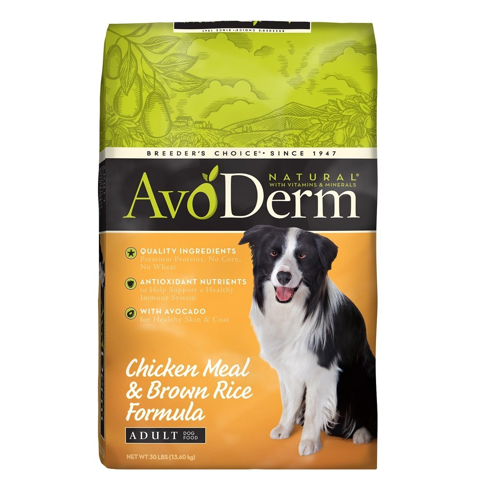 DONATE: AvoDerm Natural Chicken Meal & Brown Rice Formula Dry Dog Food 30lbs