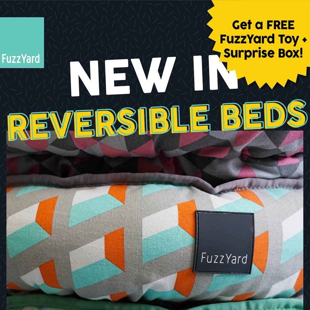 15% OFF + FREE GIFT: FuzzYard Reversible Bed