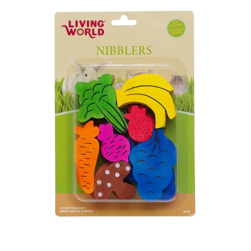 Living World Nibblers Fruits & Vegetables Wood Chews