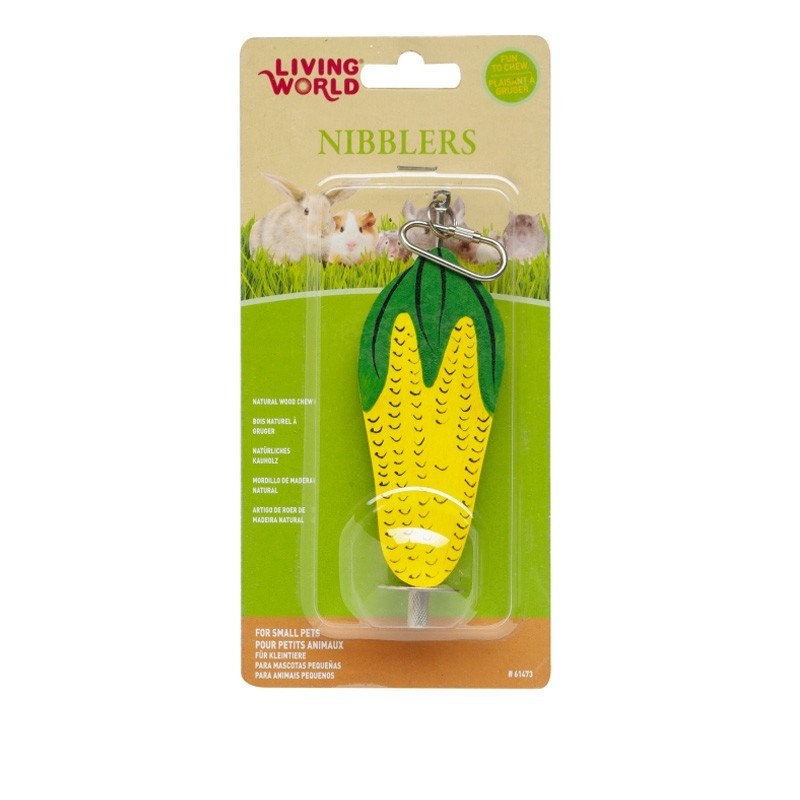 Living World Nibblers Corn Cob Wood Chew