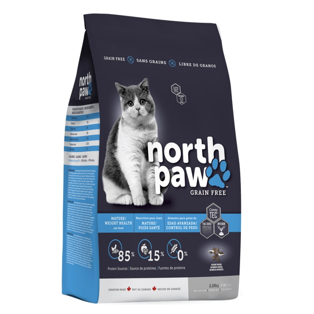 North Paw Mature / Weight Health Dry Cat Food
