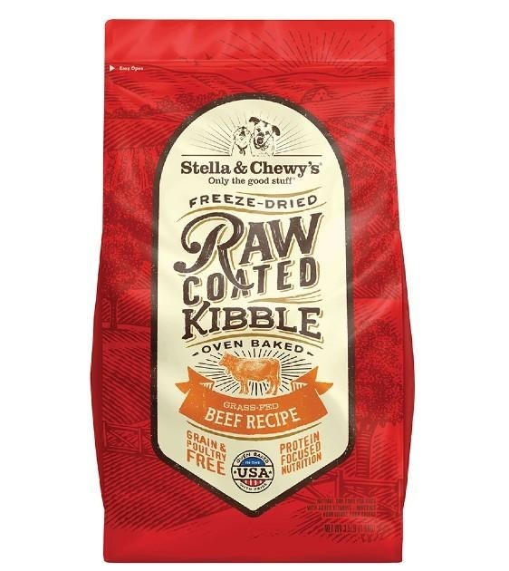 Stella & Chewy's Raw Coated Kibbles for Dogs - Grass Fed Beef Recipe