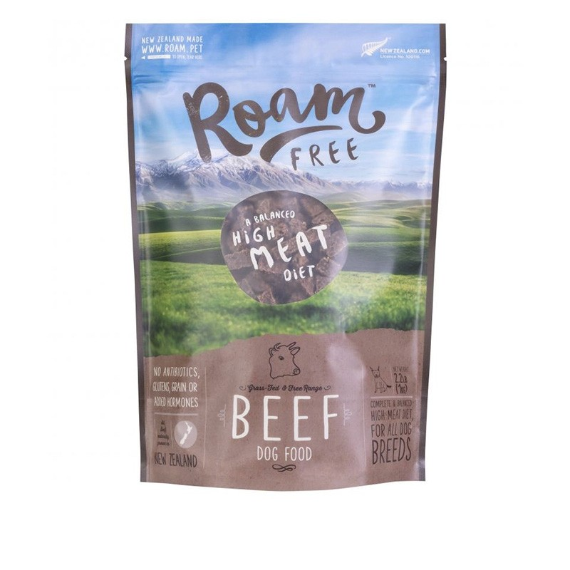Roam Air Dried Food for Canine - Beef 1kg