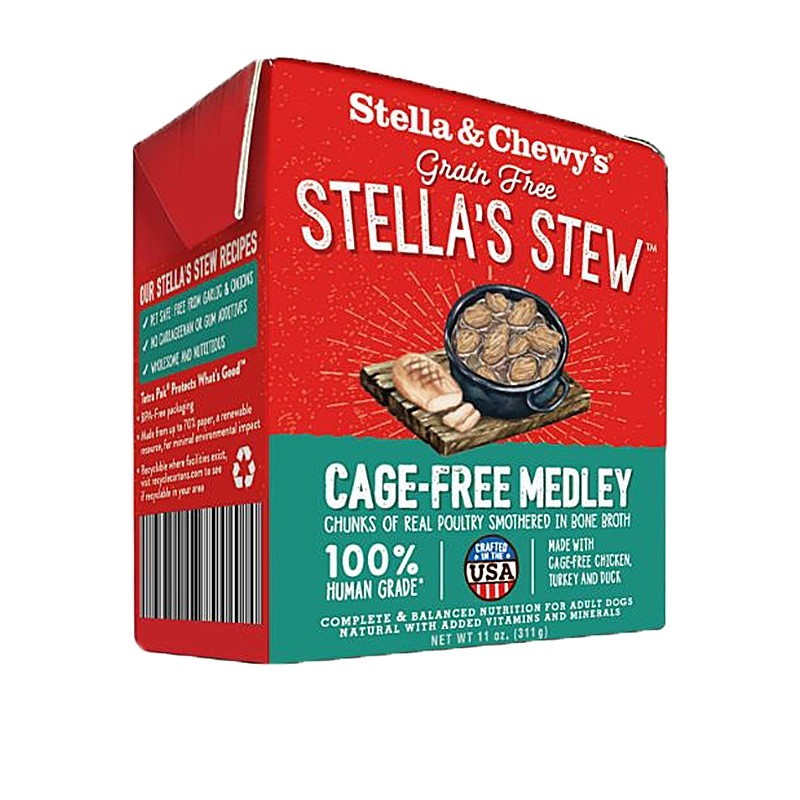 Stella & Chew's Single Source Stew for Dogs - Cage Free Medley Recipe