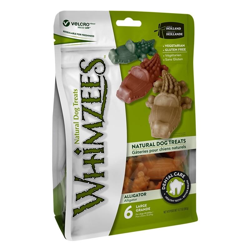 Whimzees Natural Dog Chews Value Bag - Alligator