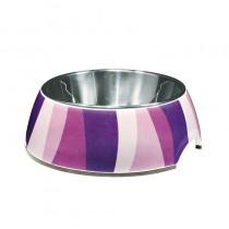 Dogit Style 2-in-1 Dog Bowl - Purple Zebra