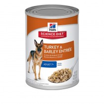 Hill's Science Diet Adult 7+ Turkey & Barley Entrée Cannned Dog Food