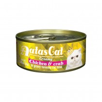 Aatas Cat Creamy Chicken & Crab in Gravy Canned Cat Food