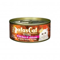 Aatas Cat Creamy Chicken & Shirasu in Gravy Canned Cat Food