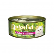 Aatas Cat Creamy Chicken & Vegetables in Gravy Canned Cat Foodg