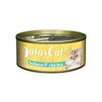 Aatas Cat Savory Salmon & Chicken in Gravy Canned Cat Food
