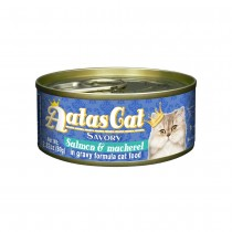 Aatas Cat Savory Salmon & Mackerel in Gravy Canned Cat Food