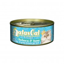 Aatas Cat Savory Salmon & Tuna in Gravy Canned Cat Food