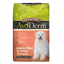 DONATE: AvoDerm Natural Grain Free Salmon & Potato Formula Dry Dog Food 24lbs