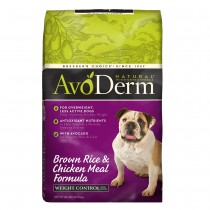 AvoDerm Natural Weight Control - Brown Rice & Chicken Meal Formula Dry Dog Food