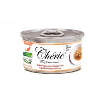Chérie Flaked Yellowfin mix Skipjack Tuna with Shrimp Entrees in Gravy Canned Cat Food