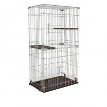 Marukan Cat Friend Room Slim 3 Tier Cat Cage with Hammock