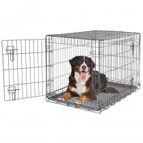 Dog it 2 Door Black Wire Home Crate with Divider - XXL