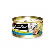 Fussie Cat Premium Tuna with Small Anchovies In Aspic Feline Canned Food