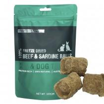 Freeze Dry Australia 100% Beef & Sardine Balls