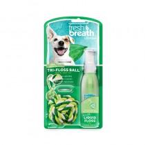 Tropiclean Fresh Breath LiquidFloss + TriFlossBall
