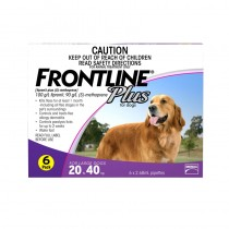 DONATE: Frontline Plus Spot On for Large Dogs 20 to 40kg, 6 pippettes