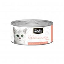 Kit Cat Deboned Chicken & Salmon Toppers 80g