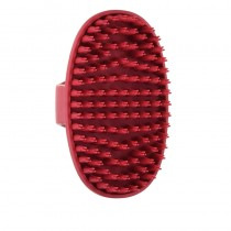 Le Salon Essentials Rubber Grooming Brush with Loop Handle For Dogs