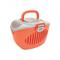 Living World Paws2Go Carrier in Salmon Orange