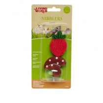 Living World Nibblers Strawberry & Mushroom Wood Chews