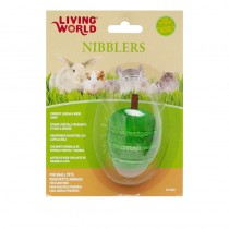 Living World Nibblers Green Apple Wood/Loofah Chew