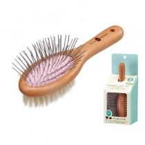 Marukan Round Pig Hair Bristle Brush - Small