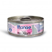 Monge Delicate Chicken With Ham Cat Canned Food 80g