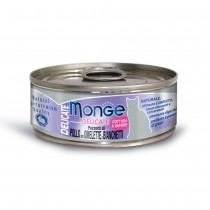 Monge Delicate Chicken With Omelette & Whitefish Cat Canned Food 80g