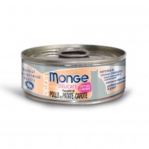 Monge Delicate Chicken With Potato & Carrot Cat Canned Food 80g