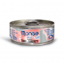 Monge Jelly Yellowfin Tuna With Shrimp Cat Canned Food 80g
