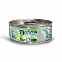 Monge Jelly Yellowfin Tuna With Surimi Cat Canned Food 80g