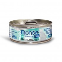 Monge Natural Seafood Mixed With Chicken Cat Canned Food 80g