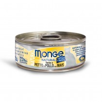 Monge Natural Tuna & Chicken With Corn Cat Canned Food 80g