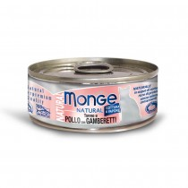 Monge Natural Yellowfin Tuna & Chicken With Shrimp Cat Canned Food 80g