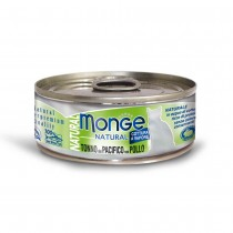 Monge Natural Yellowfin Tuna With Chicken Cat Canned Food 80g