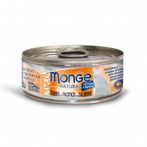Monge Natural Yellowfin Tuna With Salmon Cat Canned Food 80g