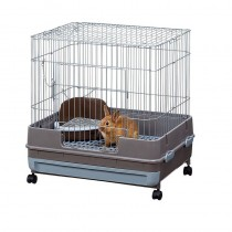 Marukan Rabbit Cage with Grey Pull Out Tray